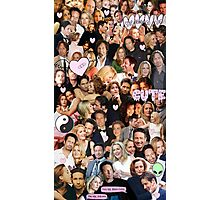 Gillian Anderson and David Duchovny collage Photographic Print