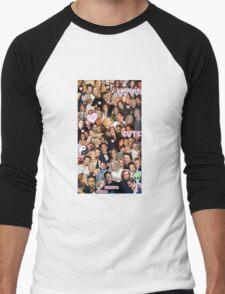 Gillian Anderson and David Duchovny collage Men's Baseball ¾ T-Shirt