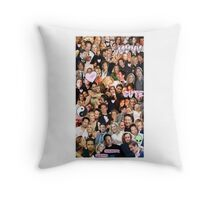Gillian Anderson and David Duchovny collage Throw Pillow
