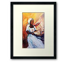 Winnowing Malawi Lady Framed Print