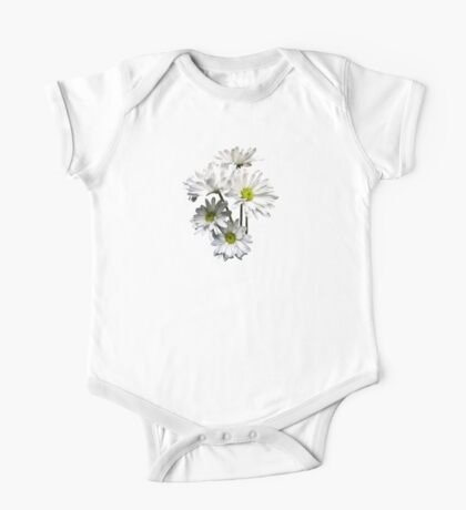 Cascade of White Daisies One Piece - Short Sleeve