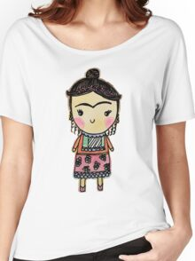 Watercolor Frida Kahlo Women's Relaxed Fit T-Shirt