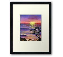 Burleigh Sunset Framed Print