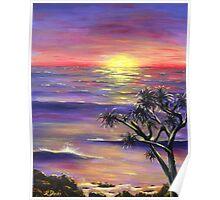 Burleigh Sunset Poster