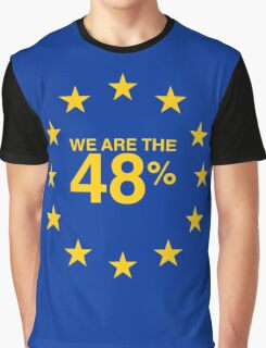 I voted Remain 48% Graphic T-Shirt