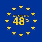 I voted Remain 48% by redcowtees