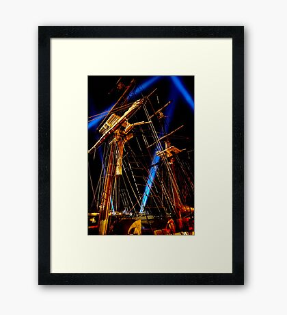 Lightin' in the Riggin' - Dark Mofo 2014 Framed Print