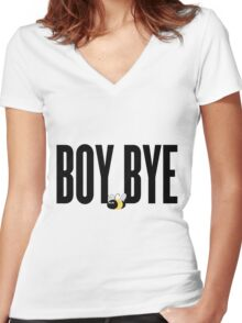 Boy Bye - Beyhive Women's Fitted V-Neck T-Shirt