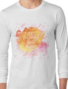 Alone with nature Long Sleeve T-Shirt