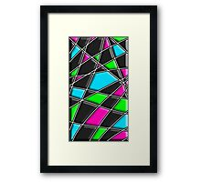 Modern Stylish Abstract Pattern Framed Print