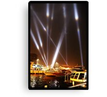 Dark Mofo 2014 - Articulated intersect - Hobart light show Canvas Print