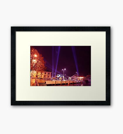 Dark Mofo 2014 - Articulated intersect  waterfront  Framed Print