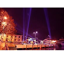 Dark Mofo 2014 - Articulated intersect  waterfront  Photographic Print