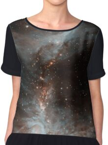 Black Galaxy Chiffon Top