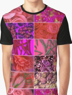 Floral Food Abstract Collage Graphic T-Shirt