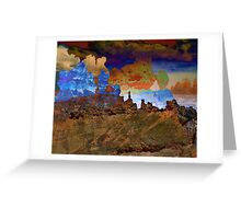 Southwestern Desert Landscape Abstract  Greeting Card