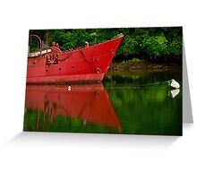 Bateau feu Scareweather Greeting Card