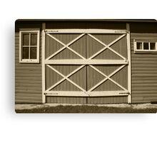 Red Barn Door Canvas Print