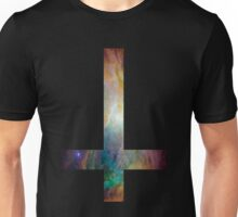 Rainbow Galaxy Inverted Cross Unisex T-Shirt