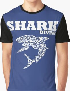 funny diving shark divers Graphic T-Shirt