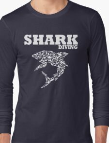 funny diving shark divers Long Sleeve T-Shirt