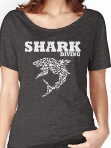 funny diving shark divers Women's Relaxed Fit T-Shirt