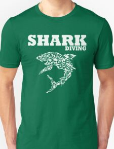 funny diving shark divers Unisex T-Shirt