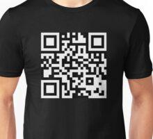 QR CODE Black  Unisex T-Shirt