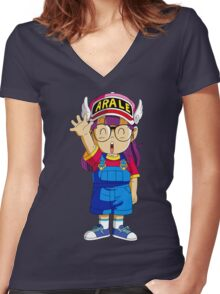 Arale  Women's Fitted V-Neck T-Shirt