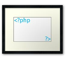Php Web Programming Tees Framed Print
