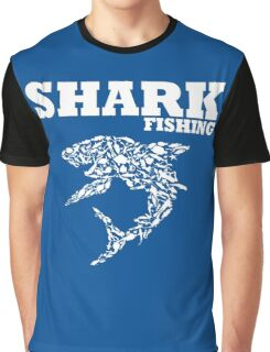 funny diving shark fishing Graphic T-Shirt