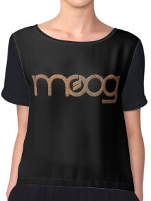 Rusty vintage moog synth Chiffon Top