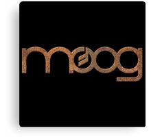 Rusty vintage moog synth Canvas Print