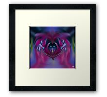 Butterfly in the Cornflowers No 4 Framed Print
