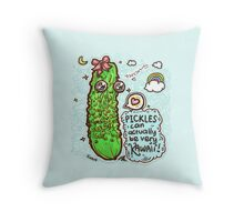 Pickles Can Be Very Kawaii! 3 Throw Pillow