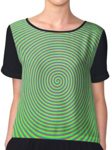 Trippy Colors Green Chiffon Top