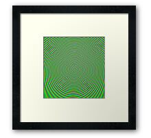 Trippy Colors Green Framed Print