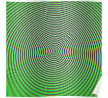 Trippy Colors Green Poster