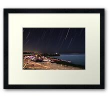 startrails Framed Print