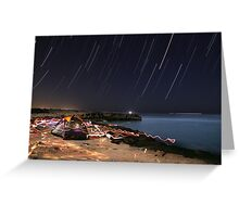 startrails Greeting Card