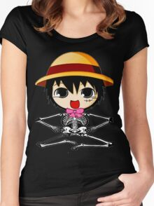 skull luffy-one piece Women's Fitted Scoop T-Shirt