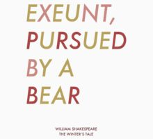 Exeunt Pursued By A Bear - Shakespeare by CorrieJacobs