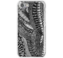 Hand draw black&white trippy patern iPhone Case/Skin