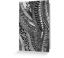 Hand draw black&white trippy patern Greeting Card