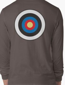 Bulls Eye, Archery, Target, Mod, Roundel, on WHITE Long Sleeve T-Shirt