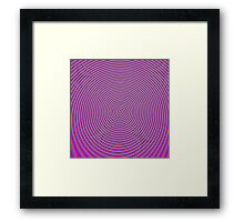 Trippy Colors Purple Framed Print