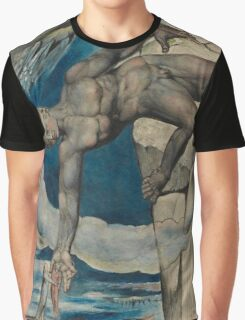 William Blake - Antaeus Setting Down Dante And Virgil In The Last Circle Of Hell. Man portrait: strong man, Antaeus ,  Setting,  Dante ,  Virgil,  Last Circle ,  Hell, smile, manly, sexy men, macho Graphic T-Shirt