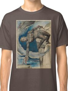 William Blake - Antaeus Setting Down Dante And Virgil In The Last Circle Of Hell. Man portrait: strong man, Antaeus ,  Setting,  Dante ,  Virgil,  Last Circle ,  Hell, smile, manly, sexy men, macho Classic T-Shirt