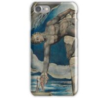 William Blake - Antaeus Setting Down Dante And Virgil In The Last Circle Of Hell. Man portrait: strong man, Antaeus ,  Setting,  Dante ,  Virgil,  Last Circle ,  Hell, smile, manly, sexy men, macho iPhone Case/Skin