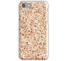 Faux Printed Rose Gold Glitter iPhone Case/Skin